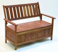 Dřevěná zahradní lavice s úložným prostorem