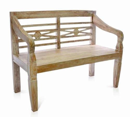 Dvoumístná zahradní lavice DIVERO z masivního teakového dřeva