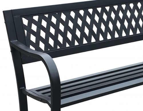 Levná plastová venkovní lavice