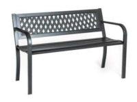 Ocelová zahradní lavička s velkou nosností