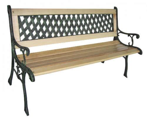 Romantická zahradní lavička