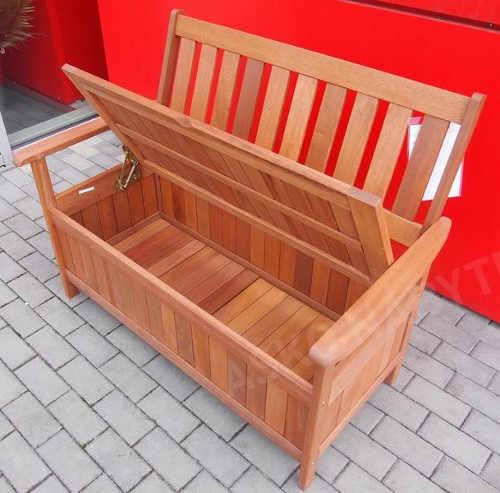Venkovní lavice z tropického dřeva Shorea