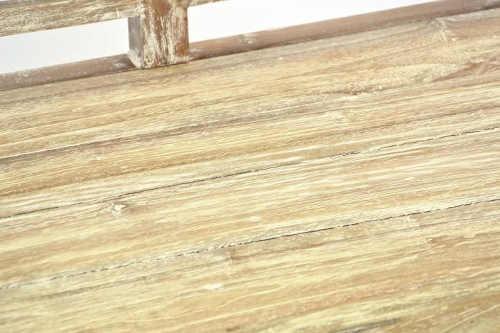 Zahradní lavička vzhled stará patina