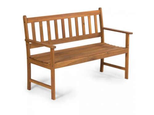 Dvoumístná zahradní dřevěná lavice