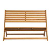 Hnědá zahradní lavice z kvalitního dřeva