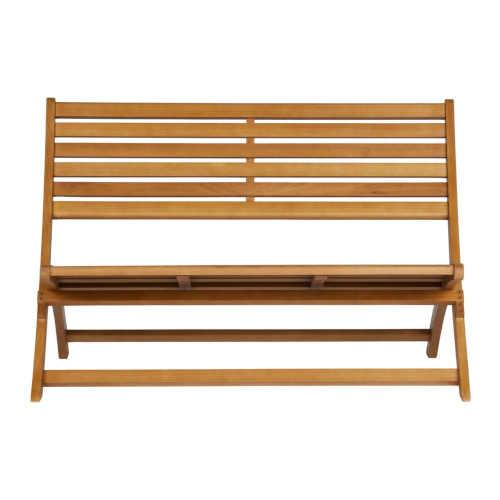Hnědá zahradní lavice z eukalyptového dřeva
