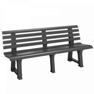 Plastová lavička v barvě antracit