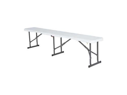 Skládací lavice o délce 180 cm v bílém provedení