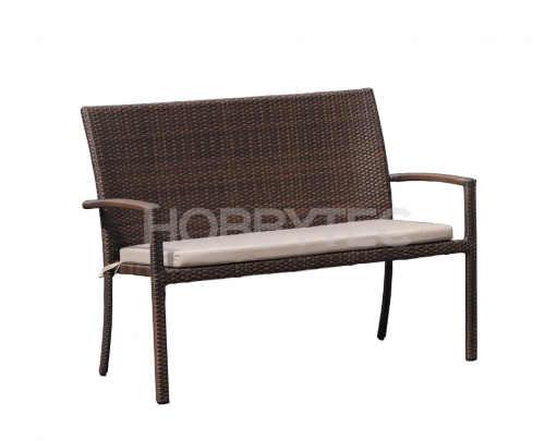 Stylová lavička z umělého ratanu