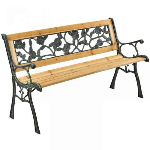 Zahradní lavička s plastovou vnitřní výplní