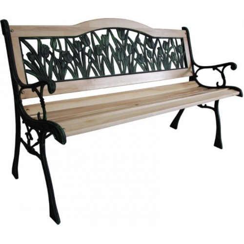 Zahradní lavička v elegantním designu s výplní