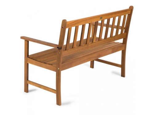 dřevěná dvoumístná lavice ze dřeva