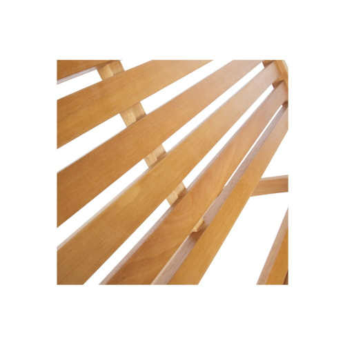 dřevěná hnědá lavice do zahrady