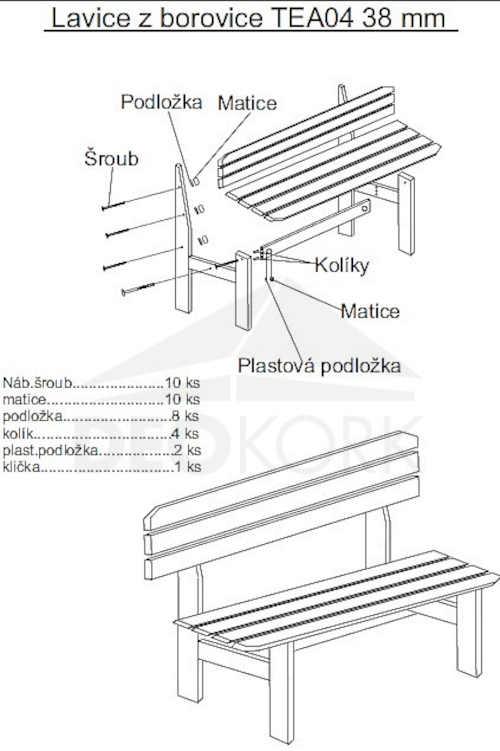 dřevěná robustní lavice do zahrady
