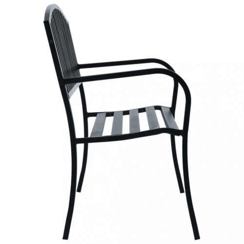 kovová lavice v elegantním provedení
