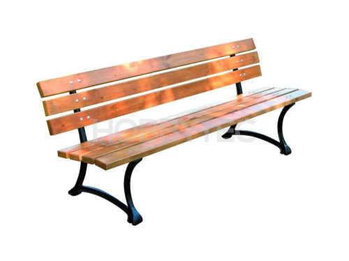 lavička ze světlé borovice