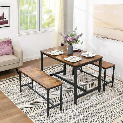 praktické lavice na sezení u stolu