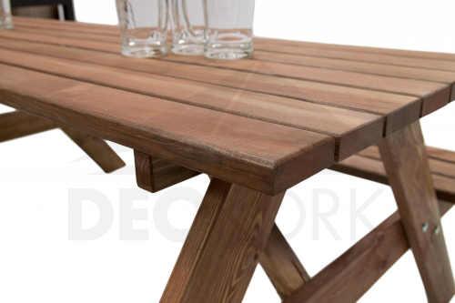 zahradní dřevěný pivní set