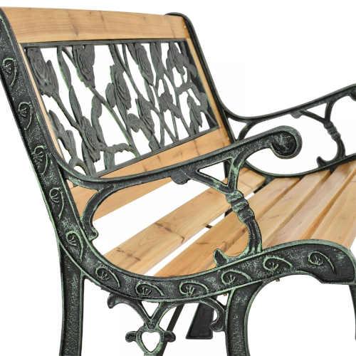 zahradní lavička s výplní v elegantním designu