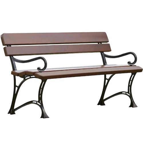 Královská zahradní lavička s područkami