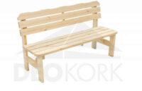 Masivní dřevěná lavice v přírodním provedení