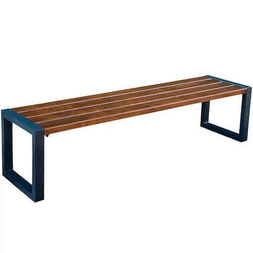 Moderní lavice bez opěrky ze dřeva a kovu
