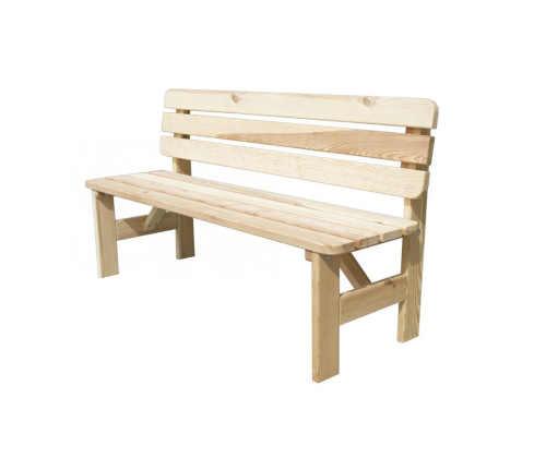 Zahradní dřevěná lavice v přírodním dekoru