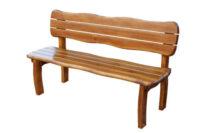 Zahradní dřevěná lavice v zajímavém vzhledu