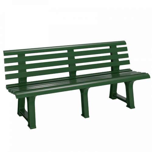 Zahradní plastová lavička v klasickém provedení