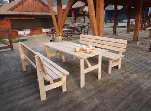dřevěná zahradní lavice Viking