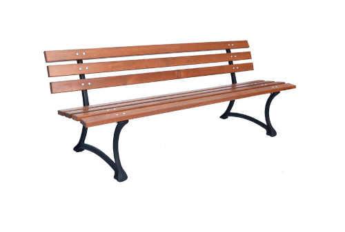 kvalitní lavice ze dřeva a kovu