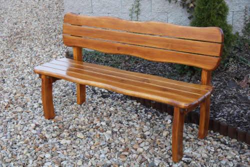 lavice dřevěná s opěrkou