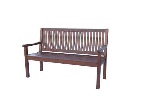 lavice dřevěná v tmavě hnědém provedení