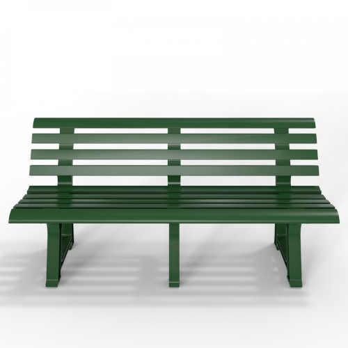 lavička z odolného plastu