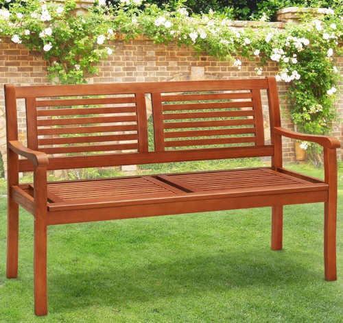 venkovní lavička ze dřeva
