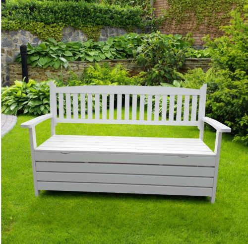 zahradní lavička bílá 150 cm